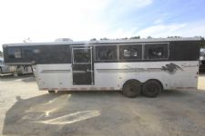#A2761 - Used 1999 Sundowner 7212GN 2 Horse Trailer  with 12' Short Wall