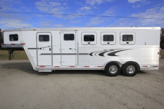 #32818 - Used 2005 Exiss XT400 Limited 4 Horse Trailer  with 4' Short Wall