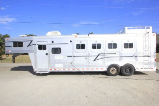 #04530 - Used 2003 Elite 8480LQ 4 Horse Trailer  with 8' Short Wall