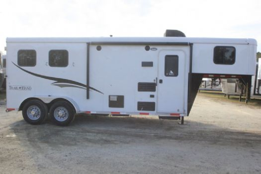 #05173 - Used 2015 Bison 7206LQ 2 Horse Trailer  with 6' Short Wall