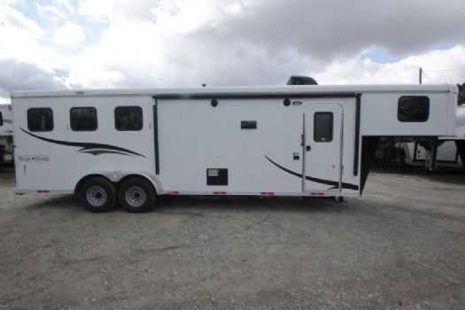 #07238 - New 2017 Bison Trail Hand 7310 3 Horse Trailer  with 10' Short Wall