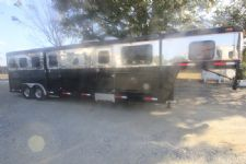 #23606 - Used 1997 Sidekick 8314LQ 3 Horse Trailer  with 14' Short Wall