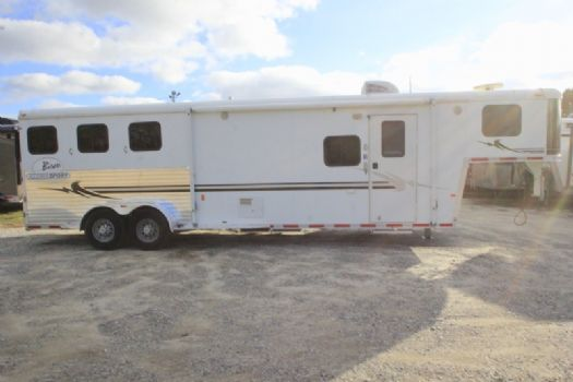 #08278 - Used 2006 Bison Alumasport 7310LQ 3 Horse Trailer  with 10' Short Wall