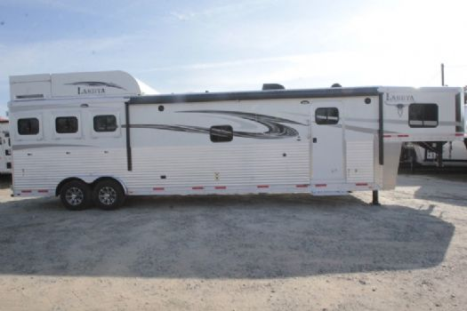 #01397 - New 2017 Lakota 8316SRGLQUG 3 Horse Trailer  with 16' Short Wall