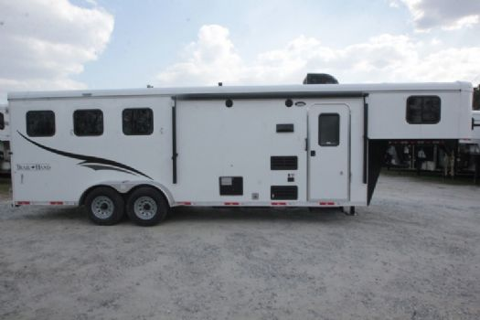 #07288 - New 2017 Bison Trail Hand 7308 3 Horse Trailer  with 8' Short Wall