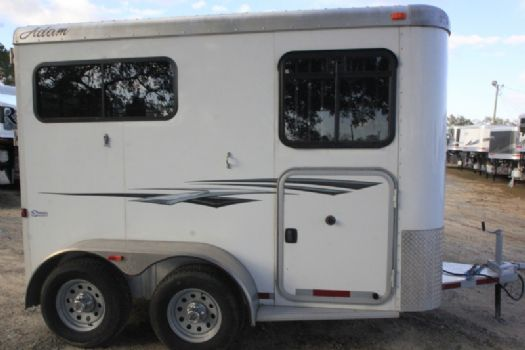 #24889 - Used 2013 Adam 2HST 2 Horse Trailer  with 3' Short Wall