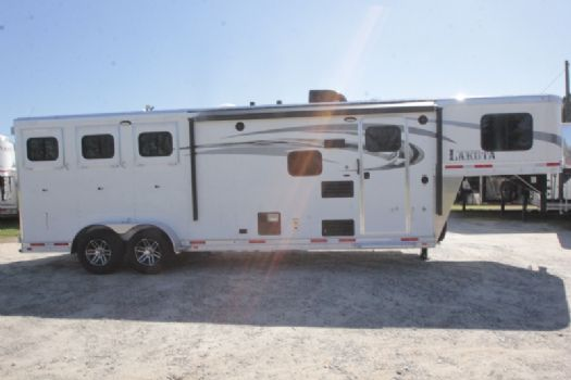 #01477 - New 2017 Lakota Charger 7309LQ 3 Horse Trailer  with 9' Short Wall