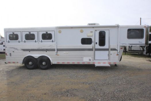 #A3141 - Used 2001 Sundowner 8308LQ 3 Horse Trailer  with 8' Short Wall