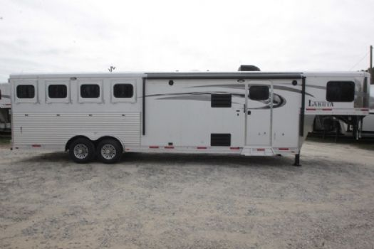 #01492 - New 2017 Lakota 8411DRLQ Charger 4 Horse Trailer  with 11' Short Wall