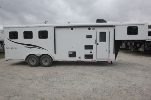 #07315 - New 2018 Bison Trail Hand 7308 3 Horse Trailer  with 8' Short Wall