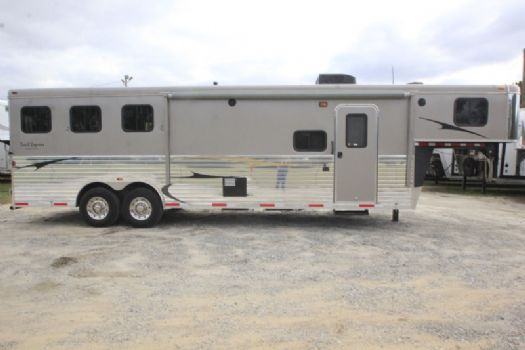 #02587 - Used 2013 Bison 8310LQ 3 Horse Trailer  with 10' Short Wall