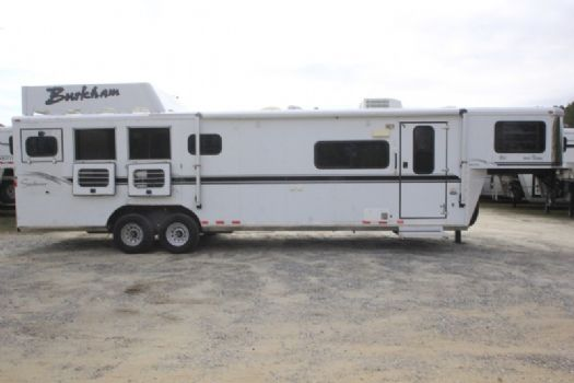 #A1611 - Used 2004 Sundowner 8410LQ 4 Horse Trailer  with 10' Short Wall
