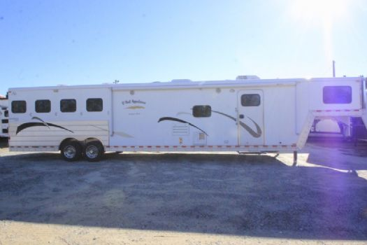 #52855 - Used 2007 Kiefer Built 8416GLQ 4 Horse Trailer  with 16' Short Wall