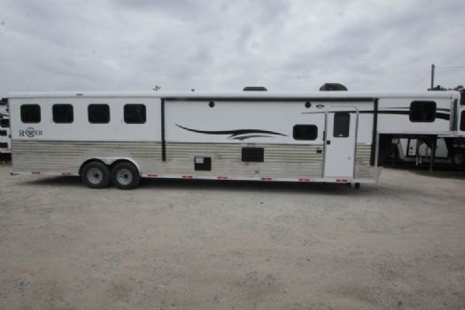 #07338 - New 2018 Bison Ranger 8415BK 4 Horse Trailer  with 14' Short Wall