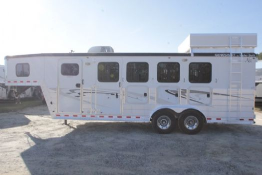 #55707 - Used 2008 Kiefer Built 7404LQ 4 Horse Trailer  with 4' Short Wall
