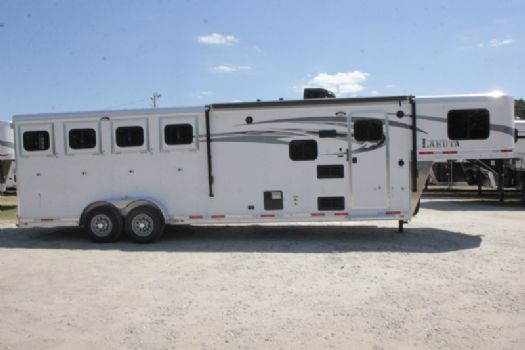 #00065 - New 2018 Lakota 7409LQ Charger 4 Horse Trailer  with 9' Short Wall