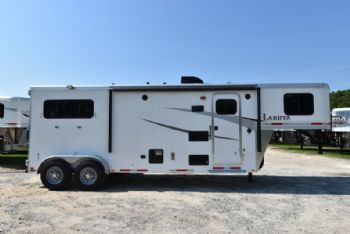 #00028 - New 2018 Lakota Colt 7209 2 Horse Trailer  with 9' Short Wall