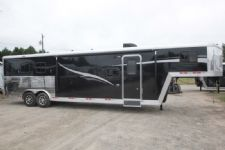 #07361 - New 2018 Bison Laredo 8311 3 Horse Trailer  with 11' Short Wall