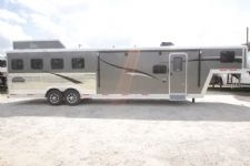 #07365 - New 2017 Bison Laredo 8411SO 4 Horse Trailer  with 11' Short Wall
