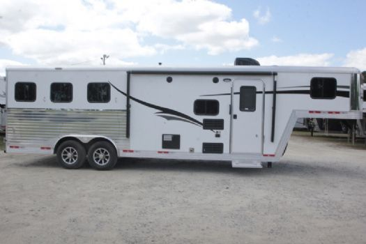 #07366 - New 2018 Bison Laredo 8308 3 Horse Trailer  with 8' Short Wall