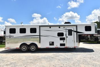 #07415 - New 2018 Bison Ranger 8308SO 3 Horse Trailer  with 8' Short Wall