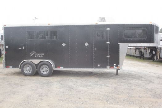 #29242 - Used 2014 Trailer USA 7309LQ 3 Horse Trailer  with 9' Short Wall