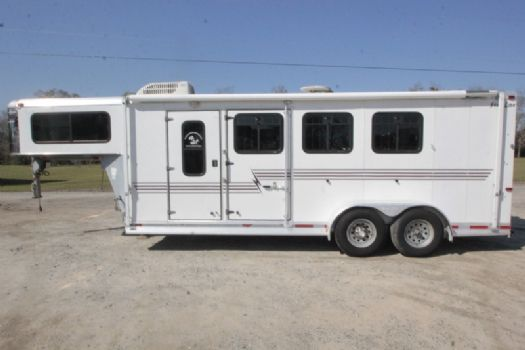 #02402 - Used 2004 Silver Star 7306LQ 3 Horse Trailer  with 6' Short Wall