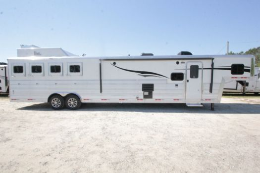 #07501 - New 2018 Bison Silverado 8416SSUG 4 Horse Trailer  with 16' Short Wall