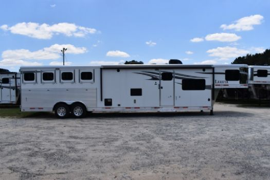 #00459 - New 2018 Lakota Charger 8415RKBGLQ 4 Horse Trailer  with 15' Short Wall