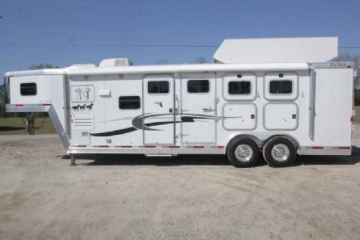 #21907 - Used 2003 Exiss SS310LQ 3 Horse Trailer  with 10' Short Wall