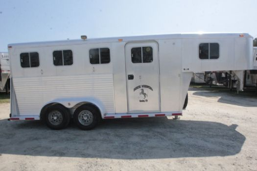 #80313 - Used 1998 Sooner 7304GN 3 Horse Trailer  with 2' Short Wall
