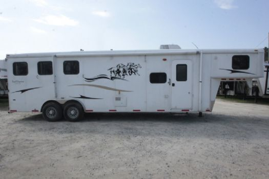#00665 - Used 2010 Bison 8310LQ 3 Horse Trailer  with 10' Short Wall