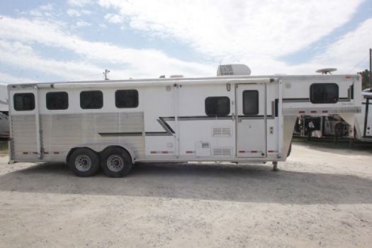 #05143 - Used 2003 Cherokee 7408GLQ 4 Horse Trailer  with 8' Short Wall