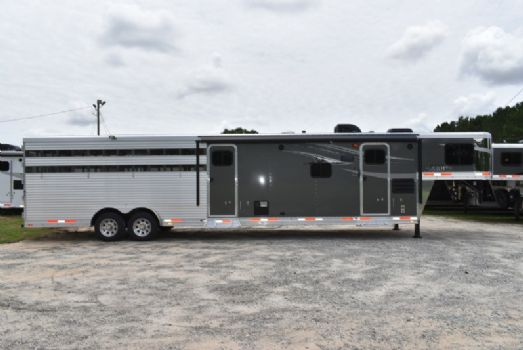 #00500 - New 2018  8011STKGLQMT Charger Stock Trailer  with 11' Short Wall