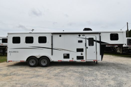 #07587 - New 2018 Bison Trail Hand 7308 3 Horse Trailer  with 8' Short Wall