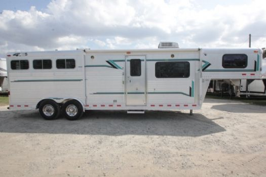 #14961 - Used 1999 4 Star 8310LQ 3 Horse Trailer  with 10' Short Wall