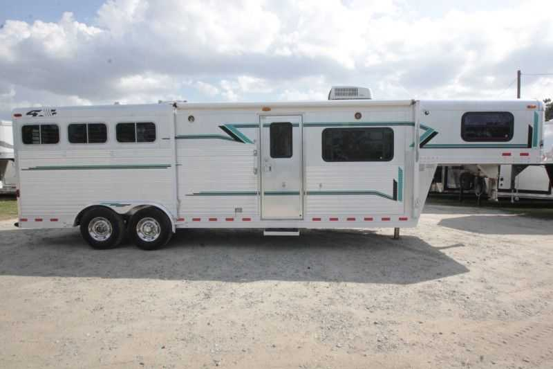 Used 3 Horse 4 Star Horse Trailer With Living Quarters Dixie