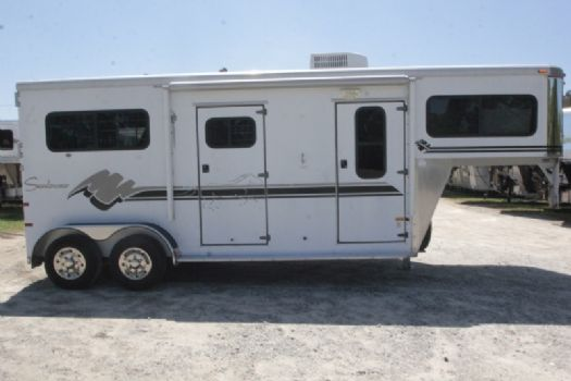 #A5857 - Used 1999 Sundowner 2HGN 2 Horse Trailer  with 6' Short Wall
