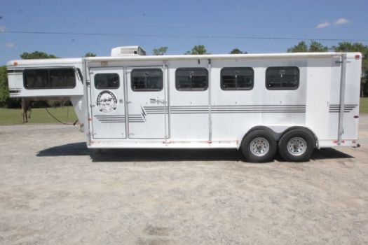 #32143 - Used 1999 Silver Star Starlite 7308LQ 3 Horse Trailer  with 8' Short Wall