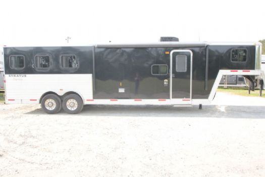 #03690 - Used 2014 Bison 8310LQ 3 Horse Trailer  with 10' Short Wall