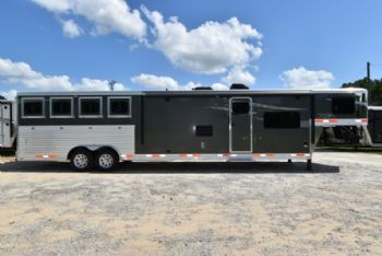 #00733 - New 2018  8415RKGLQ Charger 4 Horse Trailer  with 15' Short Wall
