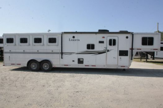 #87289 - Used 2013 Lakota 8411LQ 4 Horse Trailer  with 11' Short Wall