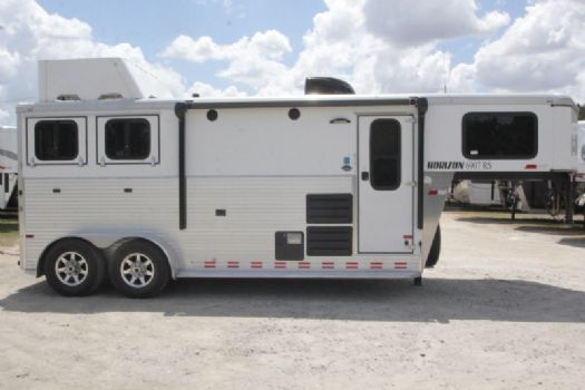 #A6423 - Used 2015 Sundowner 7207LQ 2 Horse Trailer  with 7' Short Wall