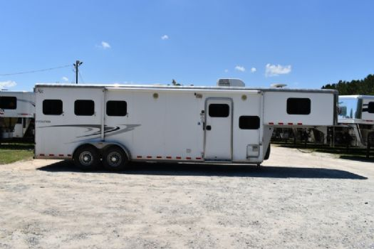 #57854 - Used 2010 Kiefer Built Evolution 7309 3 Horse Trailer  with 9' Short Wall