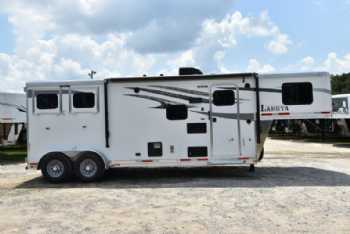 #01060 - New 2018 Lakota 7209LQ Charger 2 Horse Trailer  with 9' Short Wall