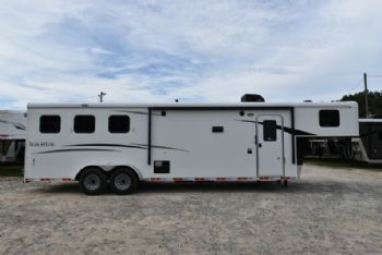 #07759 - New 2018 Bison Trail Hand 7310 3 Horse Trailer  with 10' Short Wall