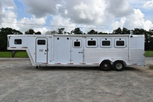 #20147 - Used 2003 Exiss XT408LQ 3 Horse Trailer  with 11' Short Wall
