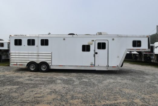 #09346 - Used 2008 Featherlite 8312LQ 3 Horse Trailer  with 12' Short Wall