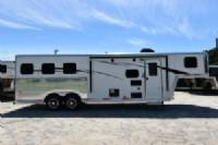 #07821 - New 2018 Bison Laredo 8308 3 Horse Trailer  with 8' Short Wall