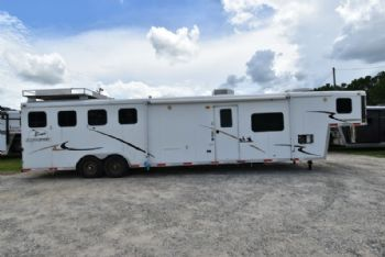 #09444 - Used 2007 Bison Alumasport 4 Horse Trailer  with 14' Short Wall